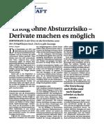 Erfolg ohne Absturzrisiko - Derivate machen es möglich