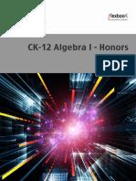 Algebra I Honors