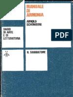 Arnold Schoenberg - Manuale Di Armonia - ILSAGGIATORE MILANO 1973