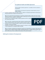 Defining the Purpose of an Occupational Health and Safety Agreement