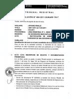 9_2011-494-2011-SUNARP-TR-T, Identificaciòn Del Socio en Acto Constitutivo