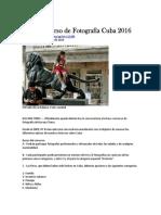 Convocatoria VIII Concurso de Fotografía Cuba 2016