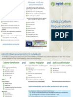 Identificaiton Requirements