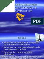 Pengadministrasian dan Penataan Alat di Laboratorium IPA