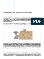 Working Principle of Electronic Positioners