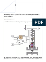 Working Principle of Force-balance Pneumatic Positioners