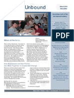 Arts Unbound Newsletter, March 2010