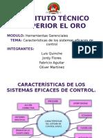Instituto Técnico SCaracteristica de los sistemas eficases de controluperior El Oro