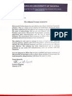 Recommendation letter for eScan