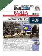 Koha Ditore - ballina 16 shkurt 2013