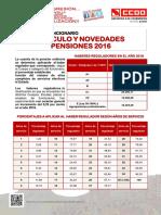 Funciionarios Cálculo y Novedades Pensiones 2016
