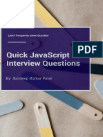 Quick JavaScript Interview Questions - Sandeep Patel