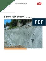 DSI-USA DYWI Drill Hollow Bar System En