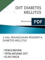Diit Diabetes Mellitus