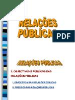 Objectivos e Publicos das Relações Publicas