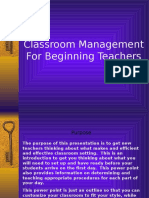 Classroom Management for Beginning Teachers