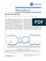Dialysis Disequilibrium Syndrome in Neurointensive Care Unit- The Benefit of Intracranial Pressure Monitoring