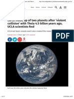 Earth made up of two planets after 'violent collision' with Theia 4.5 billon years ago, UCLA scientists find | Science | News | The Independent