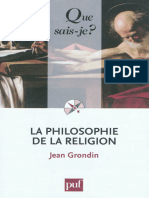 La Philosophie de La Religion - Grondin Jean