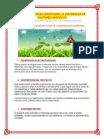 PROTOCOLO PARA INVESTIGAR LA INFLUENCIA DE FACTORES ABIÓTICOS