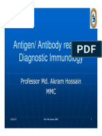 Ag-Ab Reactions in Diagnosis