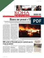 """Koha Ditore"" - ballina 19 shkurt 2014"