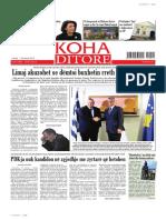 """Koha Ditore"" - ballina 20 shkurt 2014"