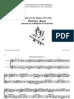 Petits Airs extraits de la Méthode de Hautbois / Amand Van der Hagen