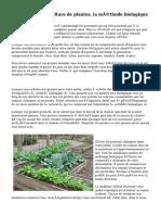 Conseils pour la culture de plantes, la méthode biologique