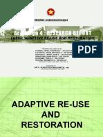 Adaptive Re-Use and Restoration