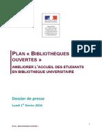 Dossier de presse Plan Bibliothèques ouvertes