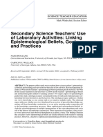 Science Education Volume 89 Issue 1 2005 [Doi 10.1002%2Fsce.20013] Nam-Hwa Kang; Carolyn S. Wallace -- Secondary Science Teachers' Use of Laboratory Activities- Linking Epistemological