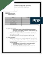 033110 NHS Planning Meeting Minutes