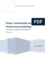 Green Sustainable and High Performance Buildings
