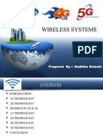 1g to 5g Wireless Technology