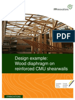 Design Example of Wood Diaphragm on Reinforced CMU Shearwalls