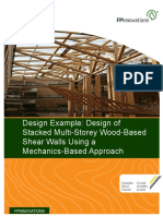 Design of Stacked Multistorey Wood Shearwalls Using a Mechanics Based Approach