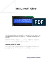 Charcter LCD Arduino Tutorial