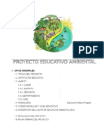 PROYECTO EDUCATIVO AMBIENTAL 2016  (modelo)