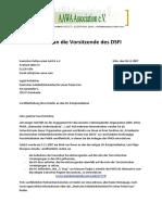 Brief an Holzhüter November 2007