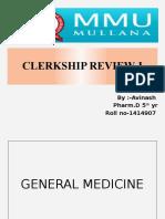Clerkship Review presentation