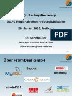 MySQL Backup/Recovery