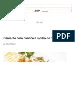 Camarão Com Banana e Molho de Maracujá