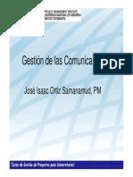 Gestion de Las Comunicaciones en El Proyecto