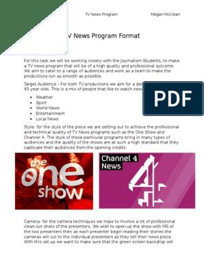 TV News Program Format | Television | News