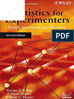 Statistics for Experimenters - Box and Hunter