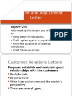camplaint and adjestment letter.pptx