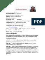 CV Carlos Mario Damián Méndez.