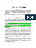 Ley 1355 de 2009