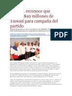 La Pagina - ARENA reconoce que recibió $10 millones de Taiwán para campaña del partido - 02 02 16